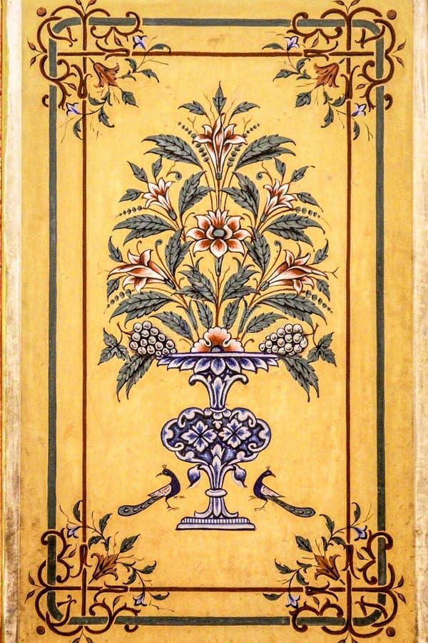 Painting At Diggi Palace, Jaipur stock photo