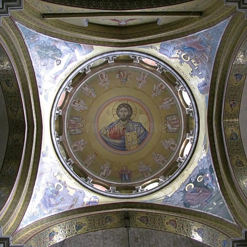 Download Painting The Dome Holy Sepulcher Stock Photo - Image: 12424726