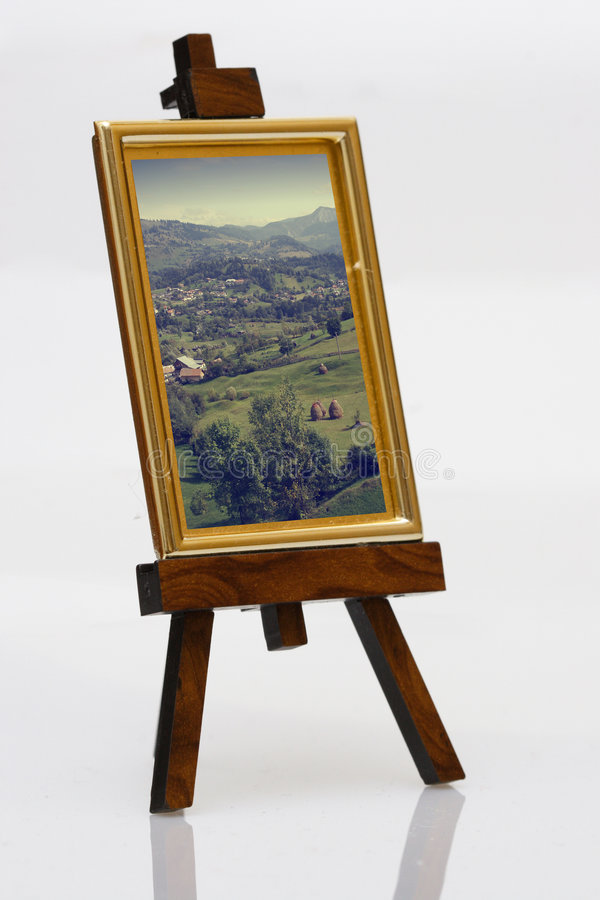 Download Painting on easel stock photo. Image of wood, frame, golden - 1470414