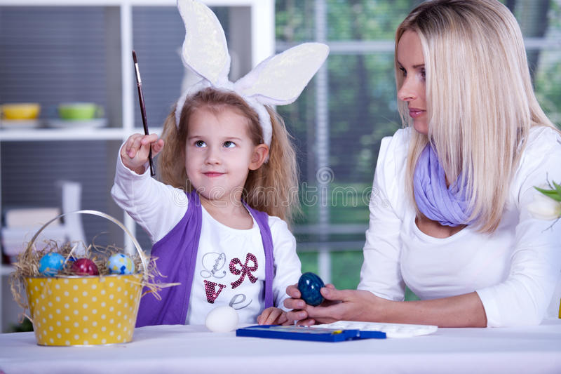 Download Painting of easter eggs stock image. Image of mother - 18707357