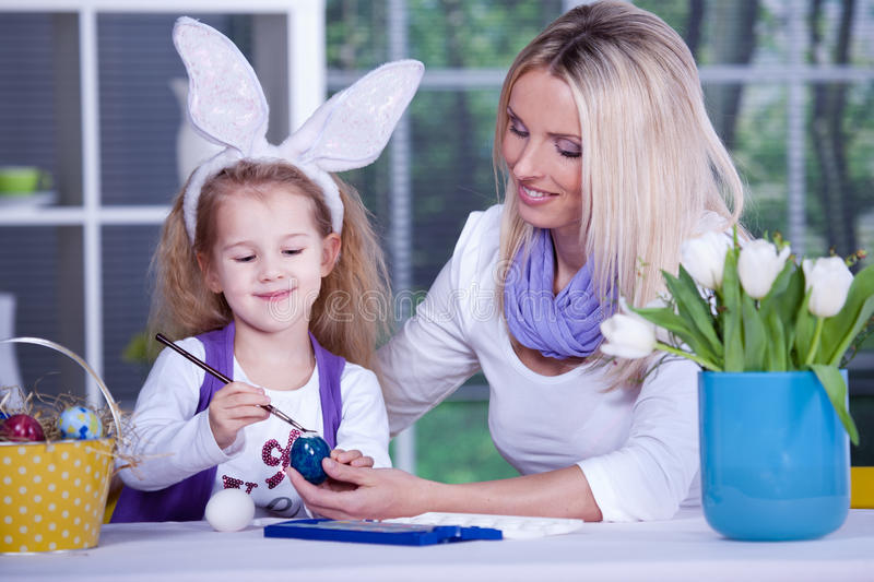 Download Painting of easter eggs stock photo. Image of woman, girl - 18712798
