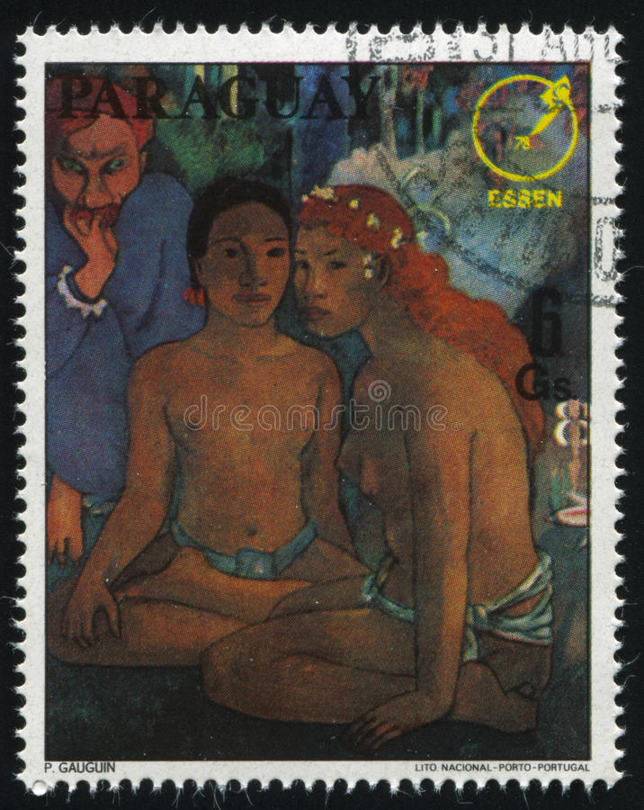 Painting Essen 78 by Gauguin stock photos