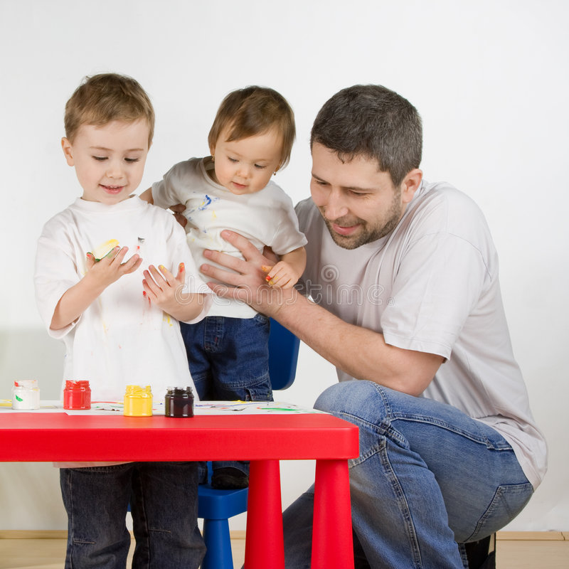 Download Painting Family Royalty Free Stock Photo - Image: 7937535