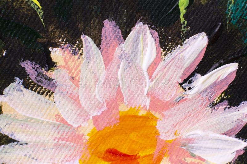 Hand drawn oil painting. Abstract art background. Oil painting on canvas. Color texture. Fragment of artwork. Spots of paint. Painting flower modern colorful royalty free stock photos