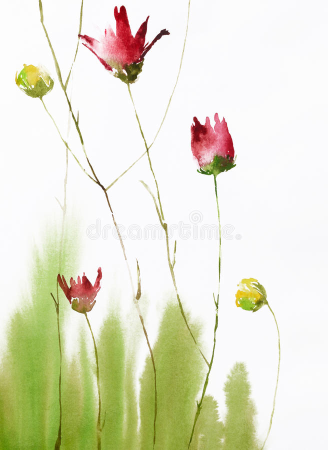 Painting of flowers royalty free stock image