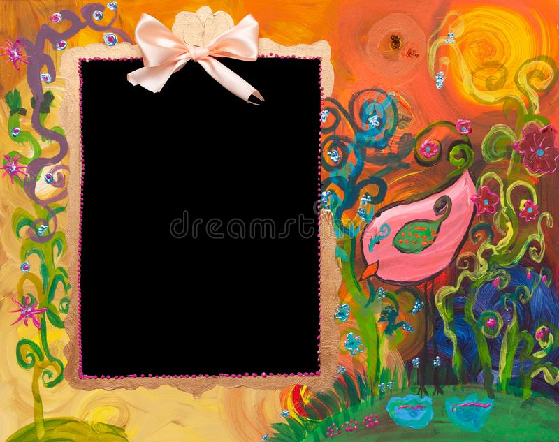 Painting with blackboard royalty free stock images