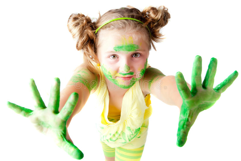 Download Painting is fun for kids stock image. Image of creative - 29459375