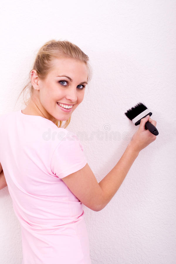 Painting Girl Royalty Free Stock Photography