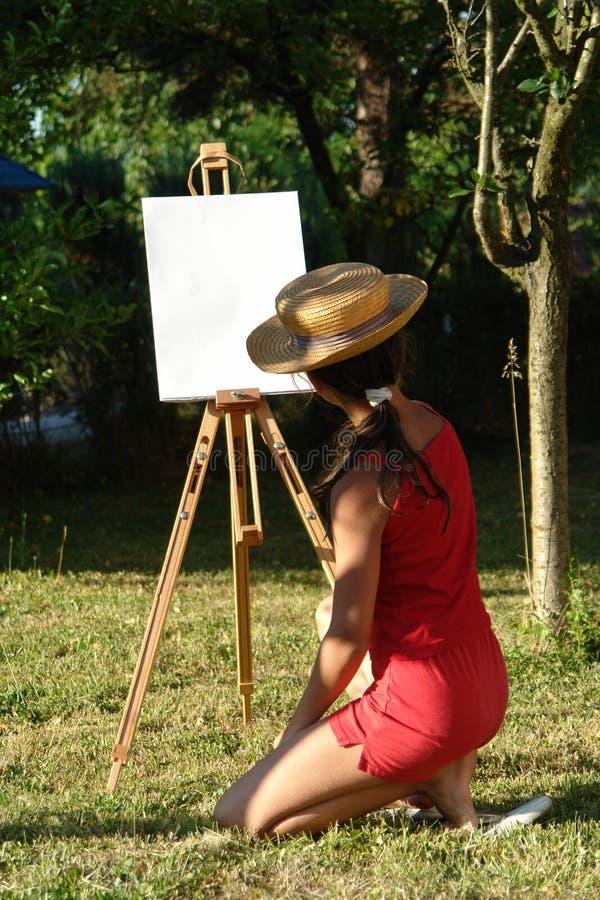 Free Painting Girl Stock Image - 2866451