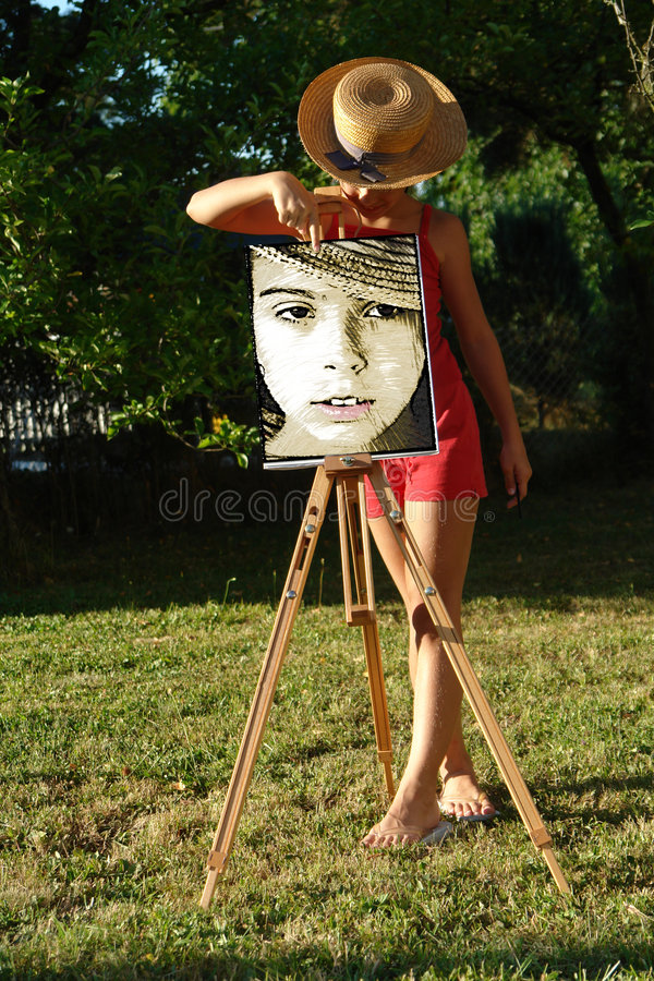 Free Painting Girl Royalty Free Stock Images - 2866459