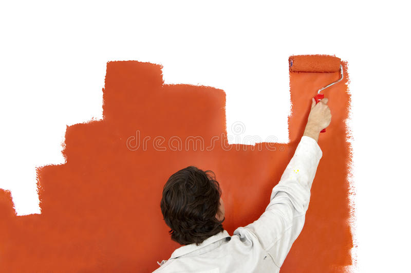 Download Painting a graph stock photo. Image of standing, painting - 21004706