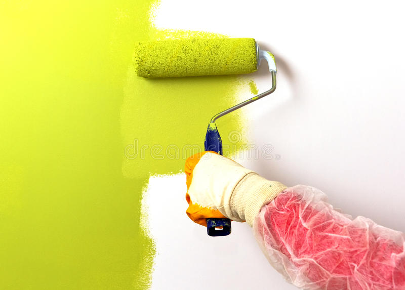 Download Painting green stock image. Image of brush, image, project - 18549961