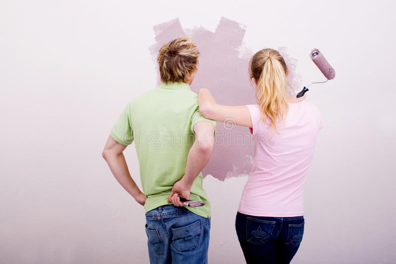 Painting home royalty free stock photography
