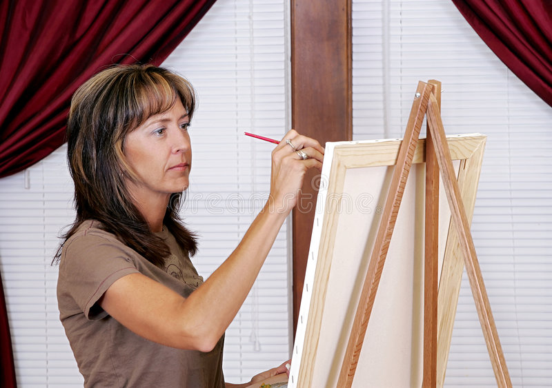 Painting at home royalty free stock images