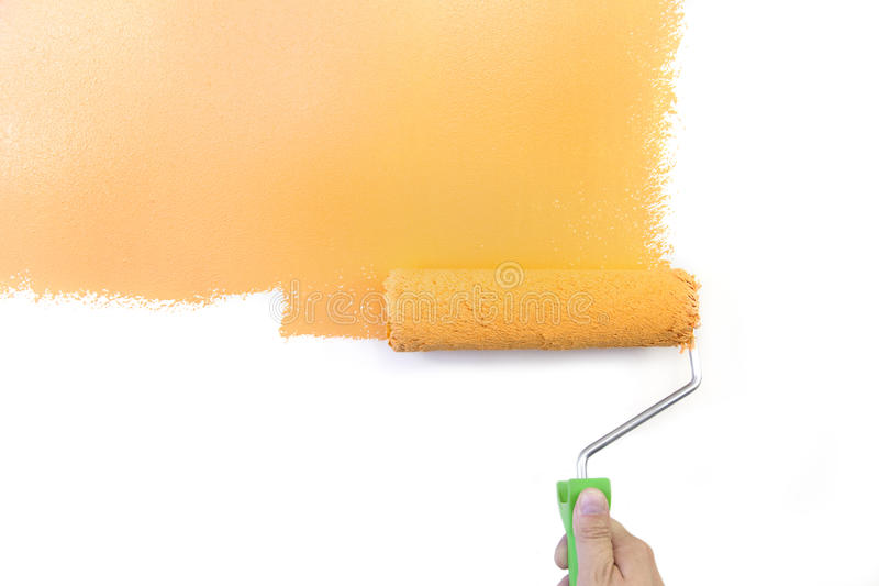 Painting - Home Improvement / isolated on white royalty free stock photography
