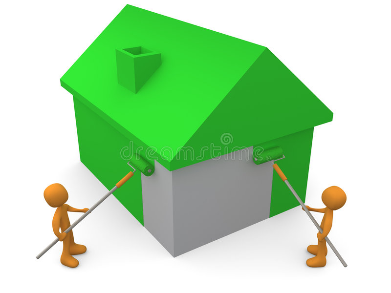 Painting A House vector illustration