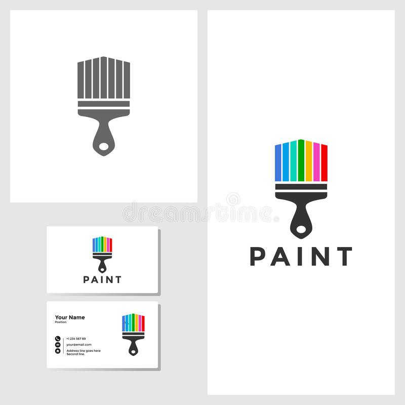 Painting house icon design template vector illustration vector illustration