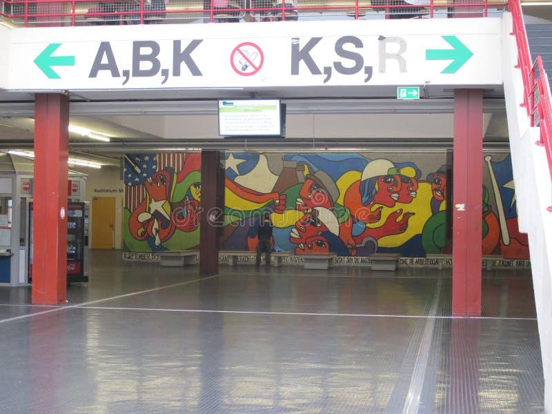 Painting inside the Bielefeld University royalty free stock image