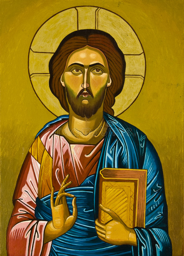 Painting of Jesus. A painting of Jesus Christ in bright colors vector illustration
