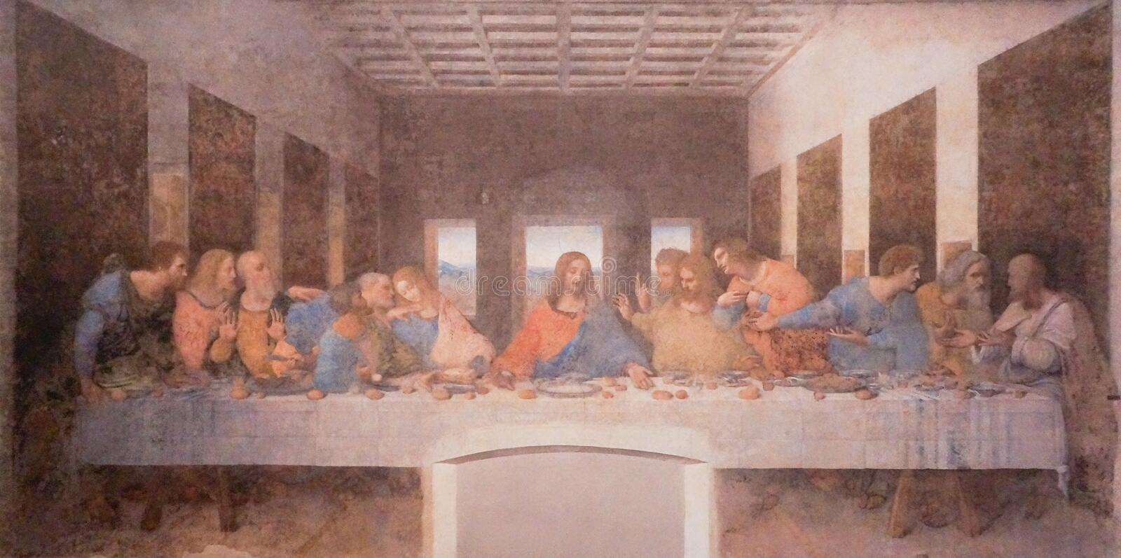 The painting of last supper royalty free stock photography
