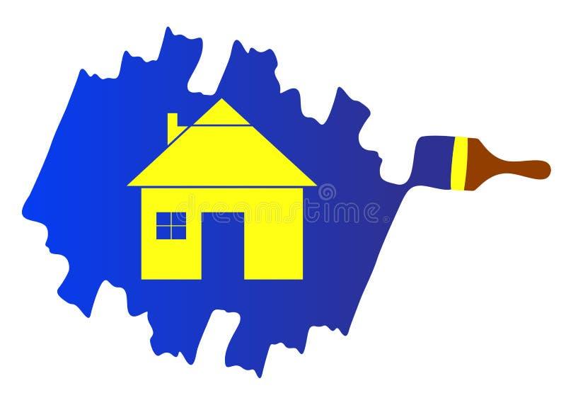 Painting logo. Illustration of painting logo design isolated on white background vector illustration