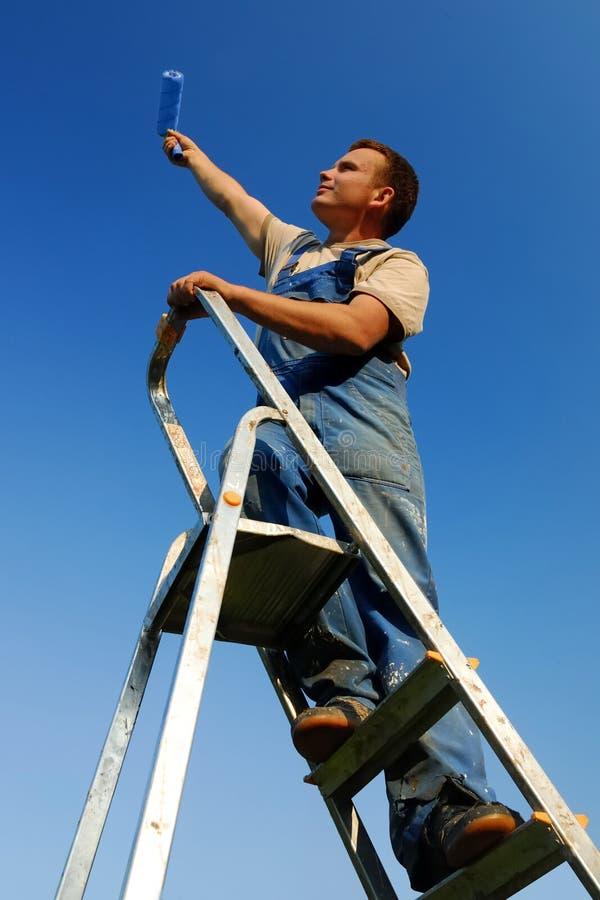 Painting man stock image