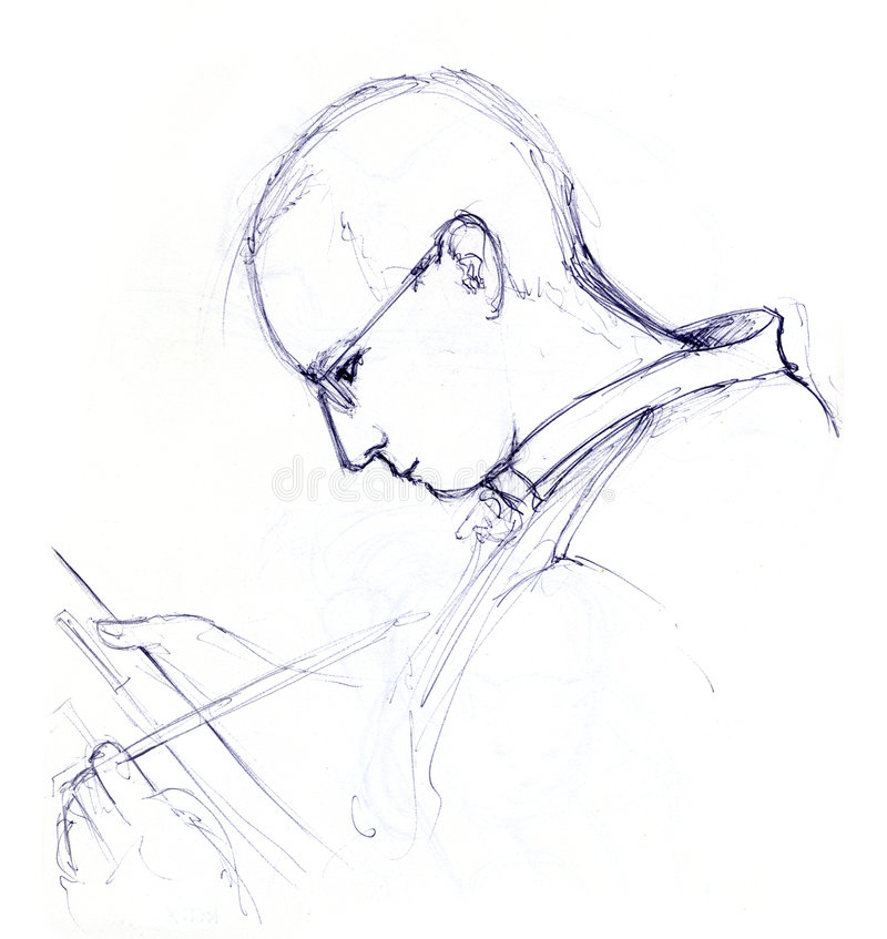 Painting man - sketch vector illustration