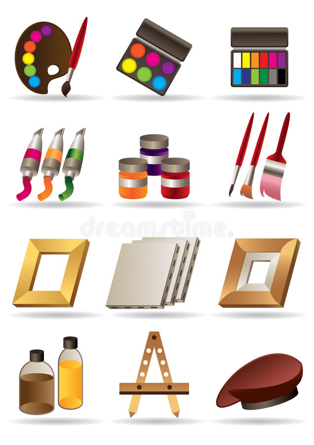Download Painting Materials For Artists Royalty Free Stock Photos - Image: 23458638