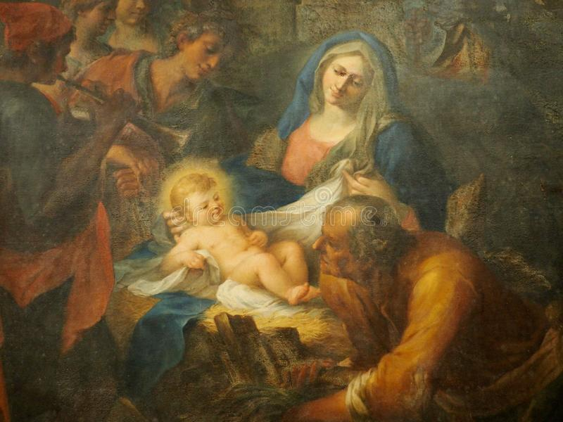 Painting Of Mother And Child In Museum royalty free stock images