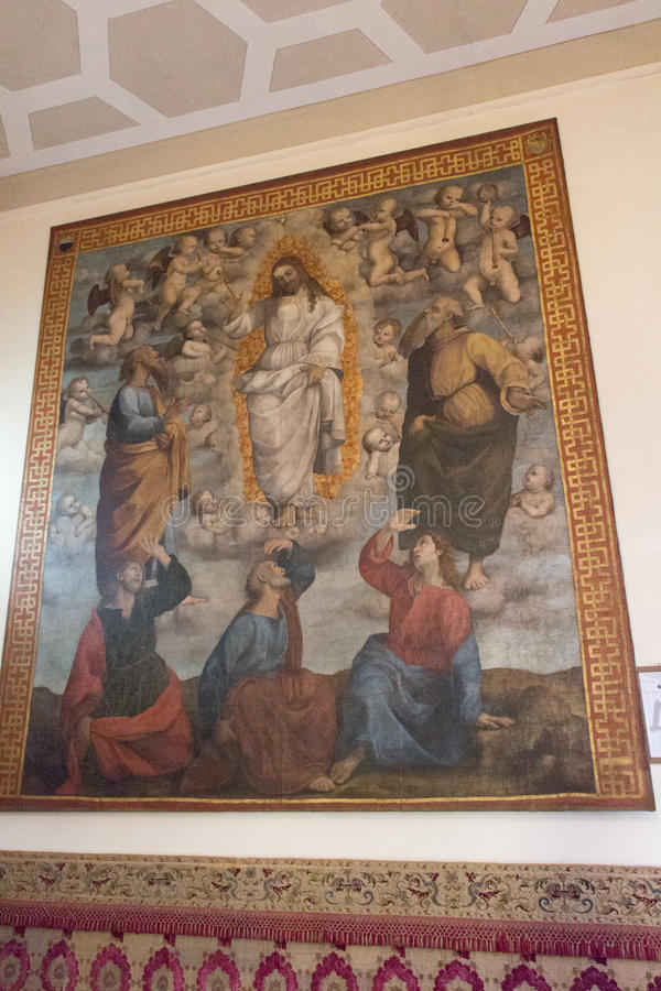 Painting of the Museo dell`Opera metropolitana del Duomo, Siena, Italy. royalty free stock photos