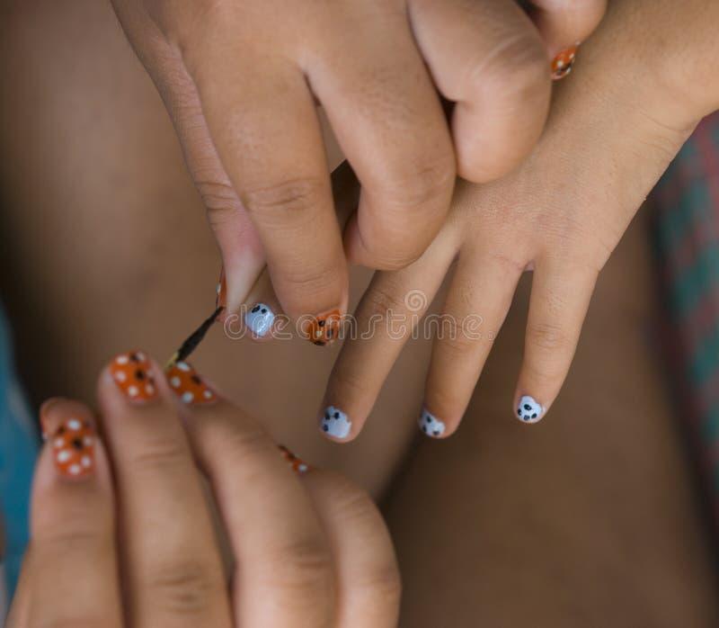Painting nails royalty free stock photo