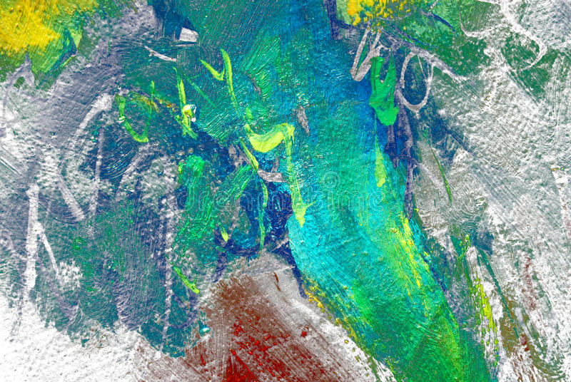 Painting by oil on a canvas, abstraction royalty free illustration
