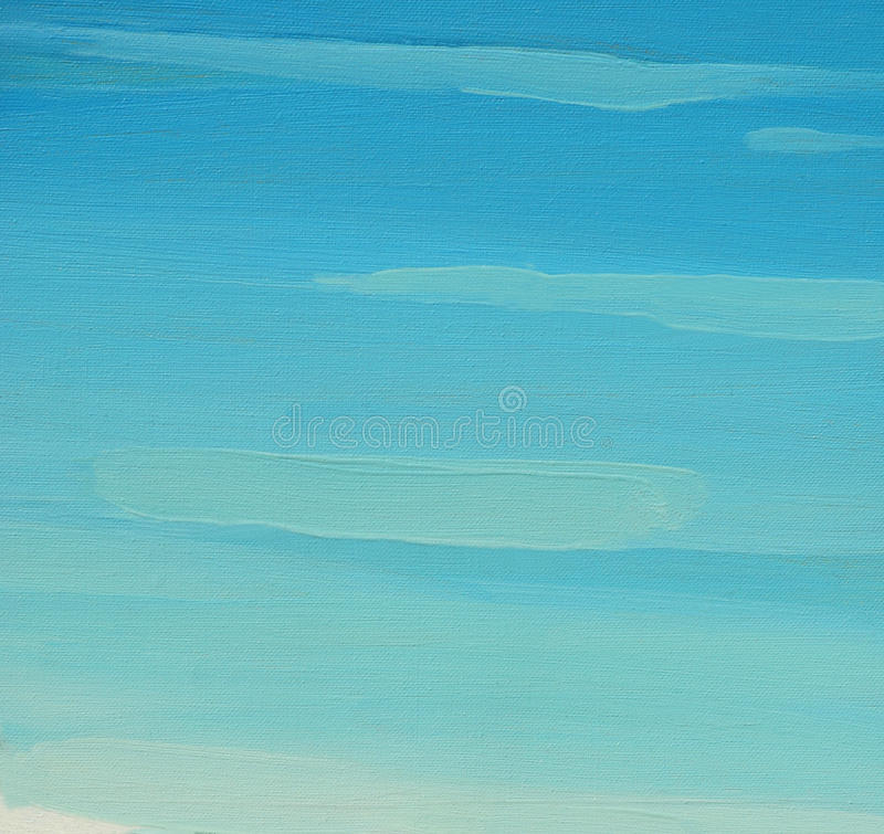 Painting by oil on a canvas,sky, background. Painting by oil on a canvas,sky, illustration, background stock photos