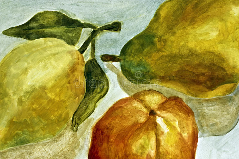 Download Painting of pears stock image. Image of surface, strokes - 15257739