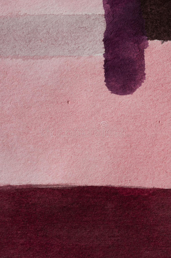 Painting practise. Abstract color-field Watercolor painting, Detail royalty free stock photos