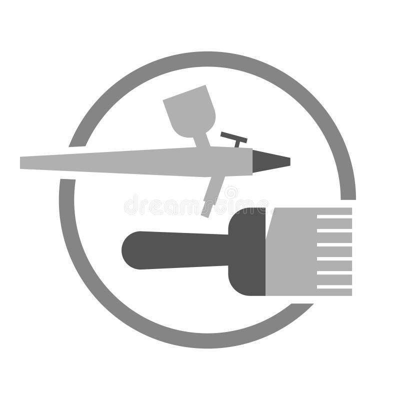 Painting preparation symbol vector illustration