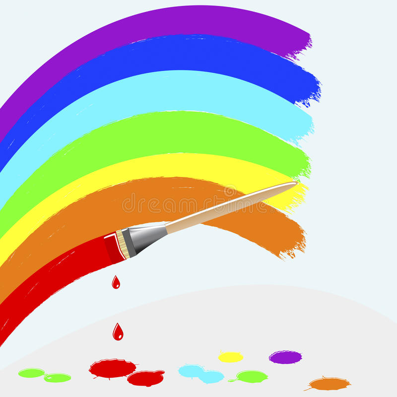 Free Painting Rainbow Colors. Royalty Free Stock Photo - 20961115