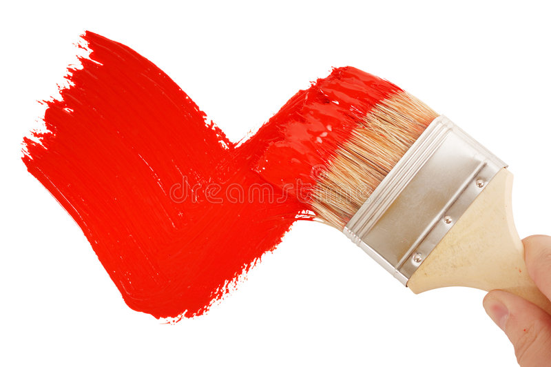 Download Painting red tick stock photo. Image of decorating, improvement - 9299218