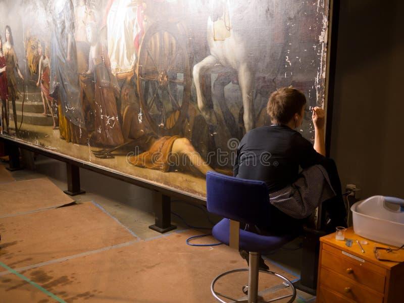 Painting Art Restoration Editorial Photo