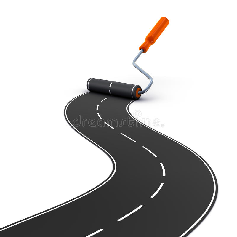 Download Painting road stock illustration. Image of symbol, blank - 15576574