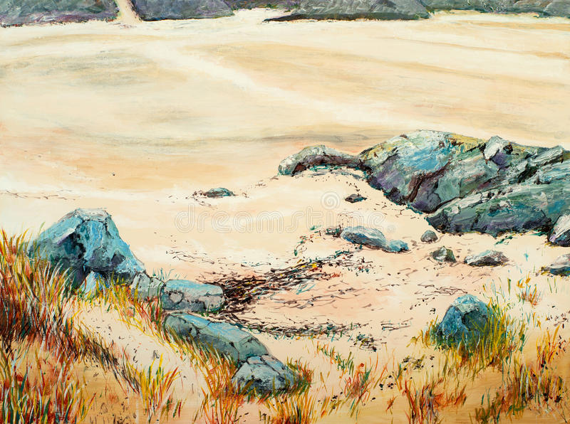 Download A Painting Of Rocks And Sand Stock Illustration - Image: 24796009