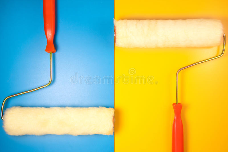 Painting roller royalty free stock photography