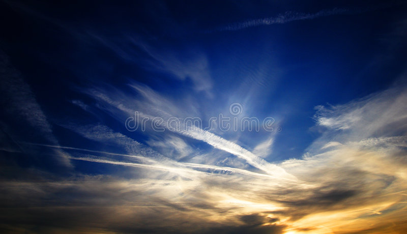 Painting of the sky royalty free stock image
