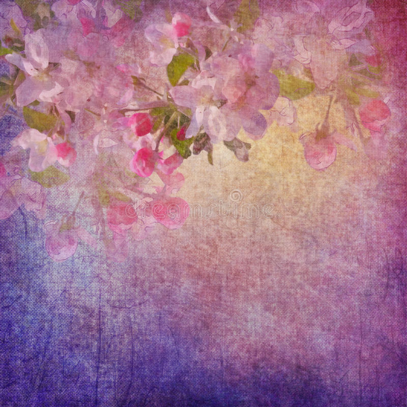 Painting style floral art stock illustration