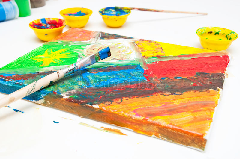 Download Painting time stock image. Image of childish, artist - 33242801