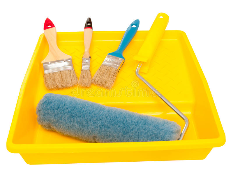 Painting tools. The image of painting tools on a white background royalty free stock images