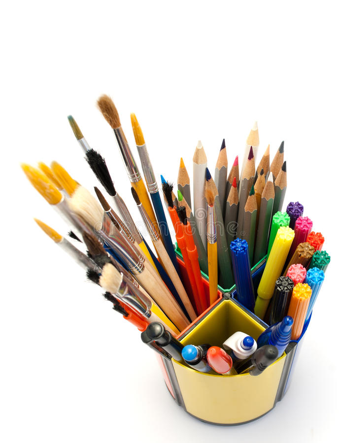 Download Painting tools. stock image. Image of marker, hobby, macro - 20502937