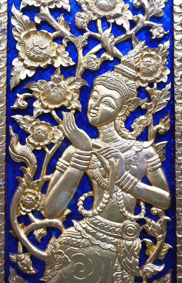 Painting in traditional Thai style stock photo