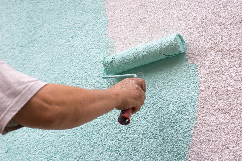 Painting wall stock photo