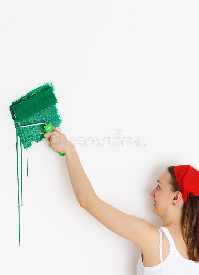 Download Painting walls stock image. Image of improvement, hand - 14358689